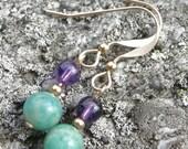 Amethyst & Amazonite Earrings