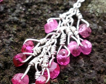 Cluster of Rubies Earring
