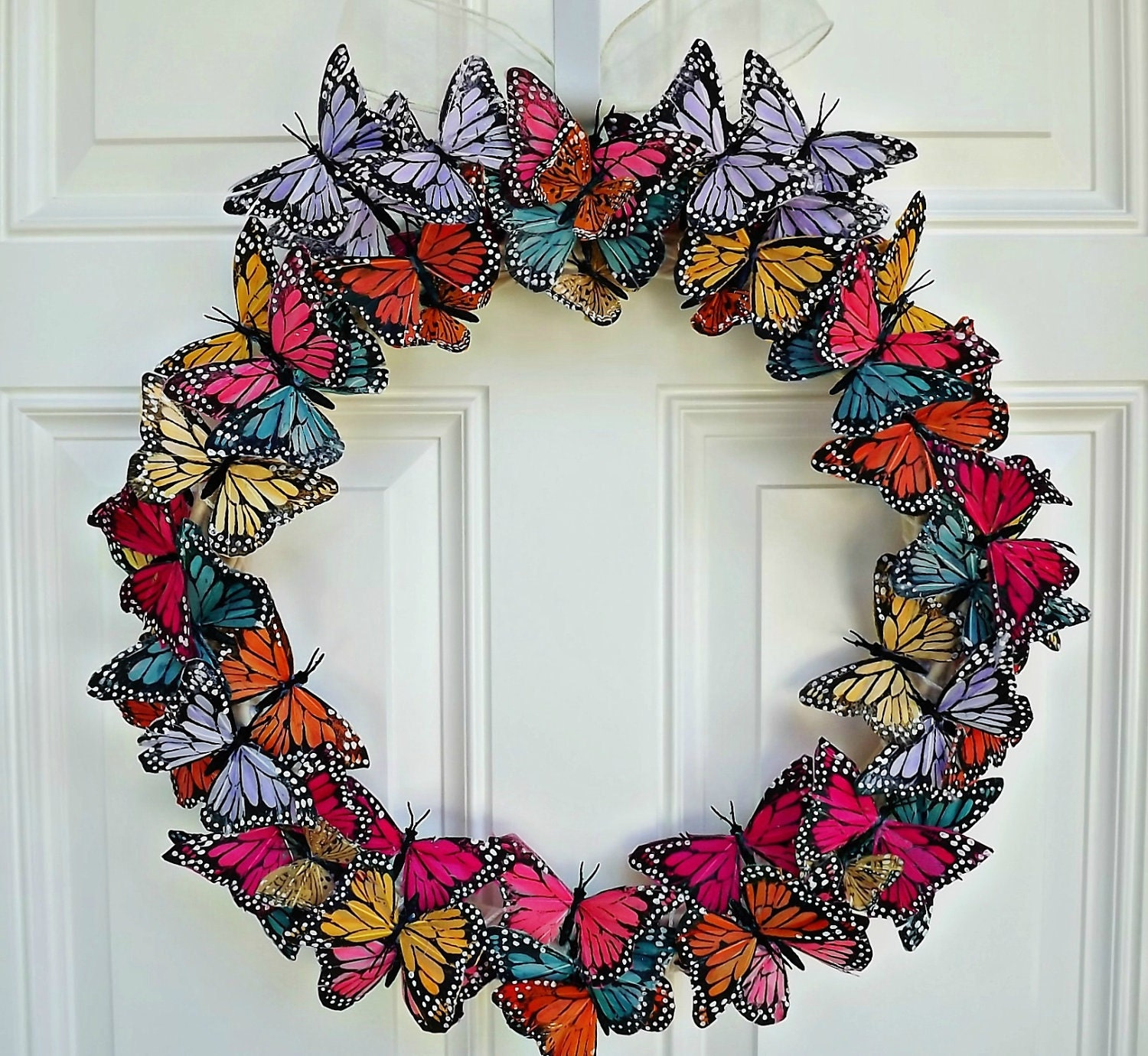 Butterfly Home Decor: Butterfly Wreath Butterfly Door Wreath By JuliesHomeCreations