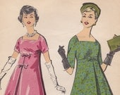 """60s 32"""" Bust Advance 8728 - Trapeze Dress with Empire Bodice - Unused"""