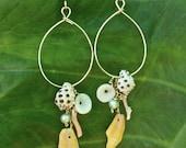 Hawaiian Sunrise Shell Charm Shell Earrings
