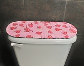 Toilet Tank Cover for Valentines Day Christmas Toilet Tank Cover Red and Silver Toilet Tank Cover Pink Toilet Tank Cover Reversible