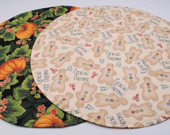 Fall Table Runner Christmas Table Runner Gingerbread Table Runner Round Table Runner Thanksgiving Table Runner  Reversible Table Runner