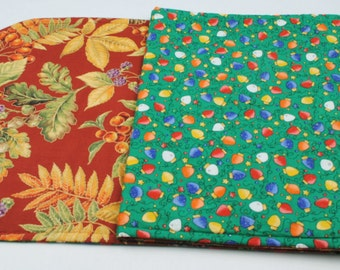 Long Table Runner - Quilted, Handmade, Double-sided, Seasonal,  Fall / Christmas, 49 in. x 14 in.