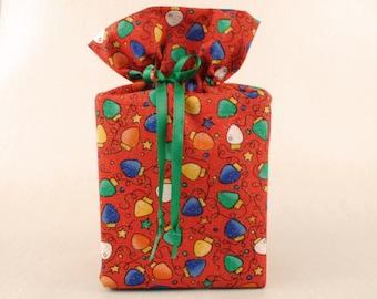 Tissue Box Cover, Christmas Lights, Red, Christmas Bathroom Accessories, Christmas Bathroom Decoration.