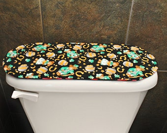 Toilet Tank Cover for Valentines Day / St. Patricks Day, Hearts / Clover Leaf / Shamrocks .