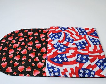 Table Runner for Valentine's Day Independence Day Table Runner Red Hearts Table Runner 4th of July Table Runner Red White and Blue Decor