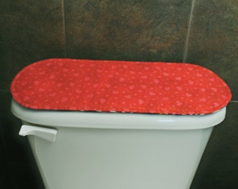 Red Bathroom Accessories-Decoration, Valentine's Day-St. Patrick's Day Toilet Tank Cover.
