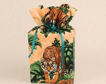 Kleenex Box Cover, Tissue Box Cover, Tiger Bathroom Accessories, Jungle Bathroom Accessories.