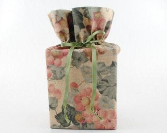 Grapes Tissue Box Cover/Kleenex Box Cover, Pastel Colors Bathroom Accessories/Bathroom Decoration.