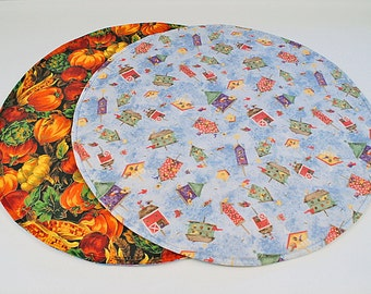 Birdhouses Table Runner Pumpkin Table Runner Round Blue Table Runner Fall Home Decoration Reversible Table Runner Quilted Table Runner