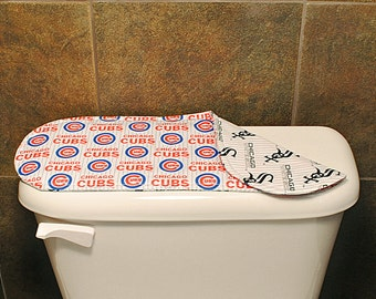 Chicago Cubs Bathroom Accessories, Chicago White Sox Toilet Tank Cover, Sport Teams Bathroom Decoration, Baseball Teams Keyboard Cover.