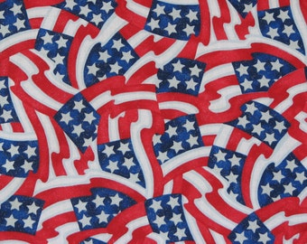 Fabric, Red White and Blue, Patriotic, 4th of July/Independence Day/Memorial Day/Labor Day, 100% Cotton, 1 Yard.