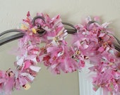 Pink Fabric and Tulle Rag Garland, Ready to SHIP