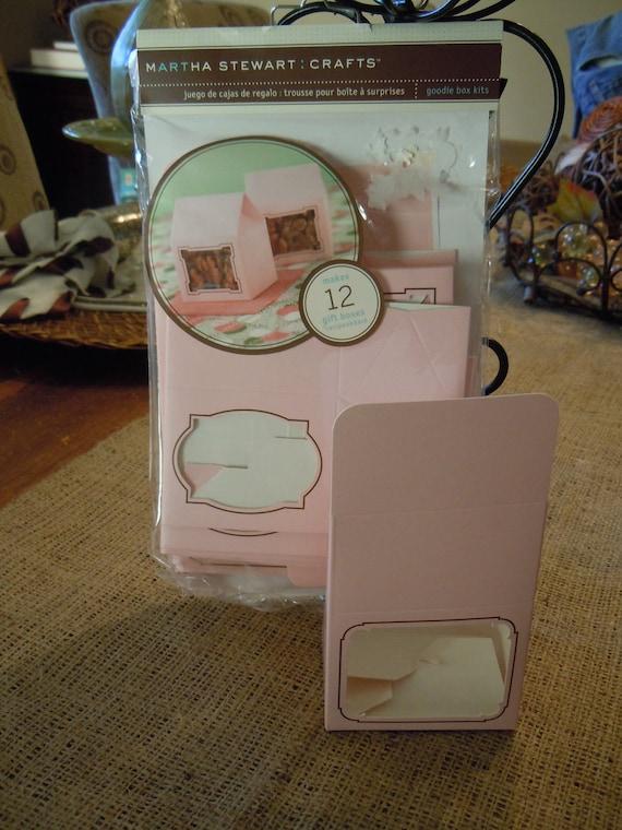 Pink Favor Boxes, Goodie Box Kits, Martha Stewart Crafts