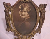 Art Nouveau Picture Frame with old photograph
