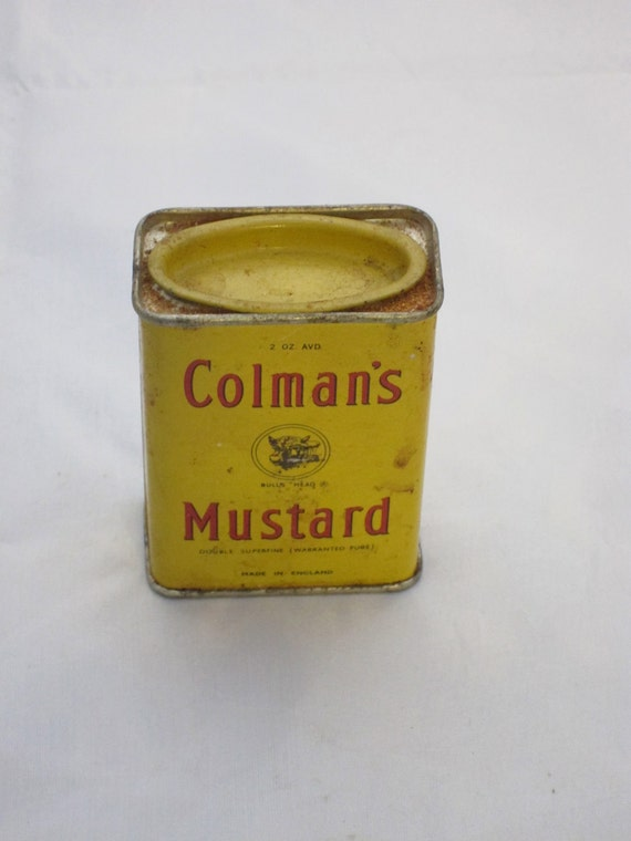 Vintage Tin for mustard by Colmans - 2oz tin