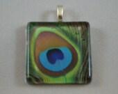 Peacock Eye Glass Pendant