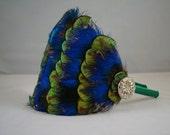 Mixed Peacock Feather Headband