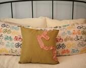 Marie Antoinette Inspired Olive Green Throw Pillow