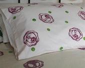 Plum Rose Organic Cotton Pillowcase - Pair