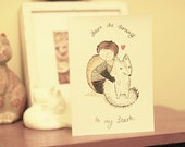 Greeting card/mini print - Game of Thrones  Stark Valentine