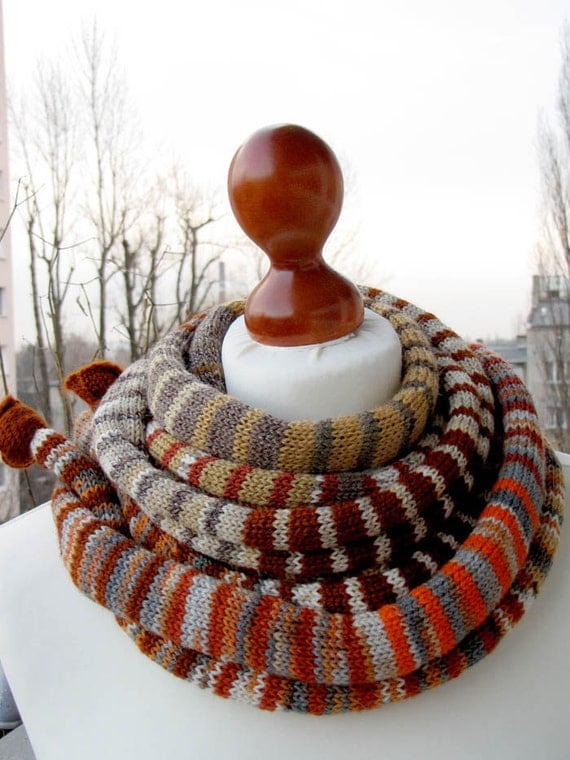 FREE SHIPPING, Summer Sale, The Cinnamon/Orange SSScarf (the SSSnake SSSleeping Bag), OOAK, Ready to Ship, Unisex