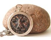 Zodiac Lion necklace pendant - vintage antique- steampunk  victorian gothic   FREE shipping Etsy
