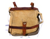 SALE MESSENGER Field Canvas and Leather BAG from 1944