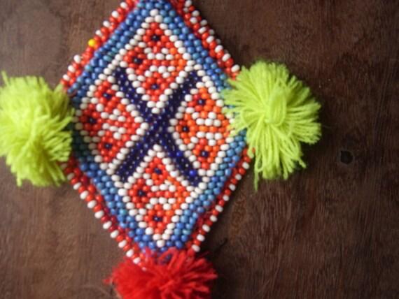 Tribal beading for handicraft // Free shipping // textile // kuchi // jewelry // beadwork // ethnic // kuchi // vintage //