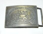 Vintage Belt Buckle Henry Ford Detroit MODEL T Car Buckle