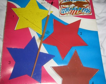 Vintage Dime Store 5 & 10 cents Toys Paint by Numbers Bicentennial Poster 1976