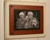 Large Single distressed wood picture frame