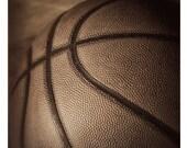 Free Throw, 8x10 warm toned, still life study, Fine art Photograph of a Basketball