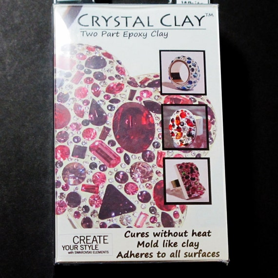 Crystal Clay White with Swarovski Crystals for Jewelry Design