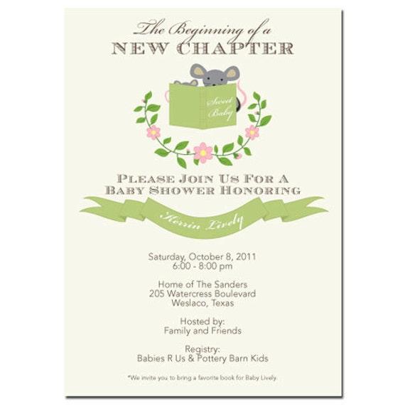 Storybook Baby Shower Invites for best invitation design
