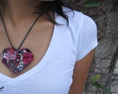 Pink And Silver Love Necklace