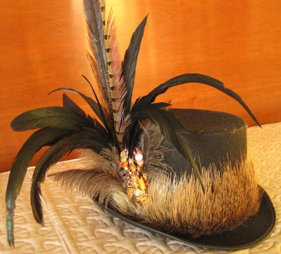 Crawfish Top Hat with Nutria Trim
