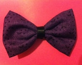 ON SALE: Purple Patterned Fabric Hair Bow