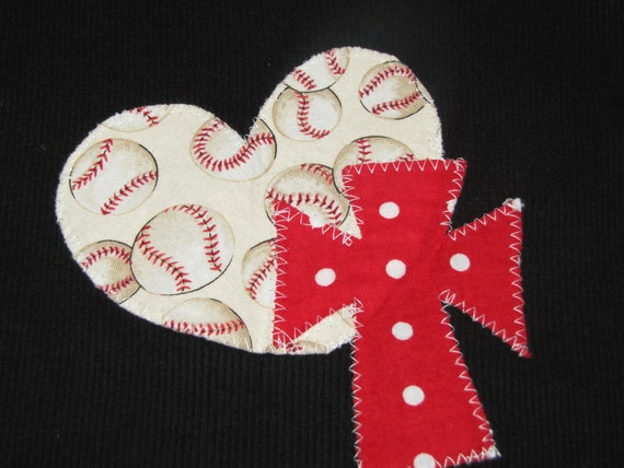 Black tank top with Baseball Heart and red cross Adult Small