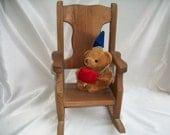 Very Vintage Wooden Doll Rocker