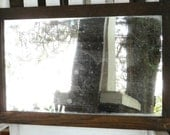 "Antique C1920 Oak Wall Mirror, 24"" x 16"", Shabby Chic"