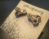 Unique Bicycle cuff links, Gifts for Him, Unique Bicycle Gift, Groomsman gift bicycle Wedding, Iron Man Triathlon, reclaimed gift