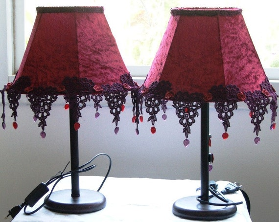 Table Lamps - a Pair of Romantic Bedside Lights