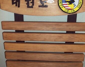 Taekwondo Belt Rack (Pacific 5 STAR Only please). Sample Listing Only