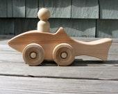 Wood Shark Push Toy