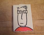 Self portrait on leftover wood