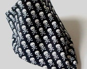 Bandana Dribble Bib in Cheeky Skulls Fabric -  CWTCH BUGS - Not Just For Mealtimes....
