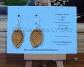 Handmade leaf dangly earrings
