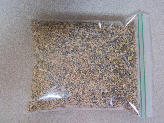 Primitive Sawdust Stuffing with Lavender and Chamomile Flowers - Perfect for Dolls, Pillows, Folk Art Sachets.